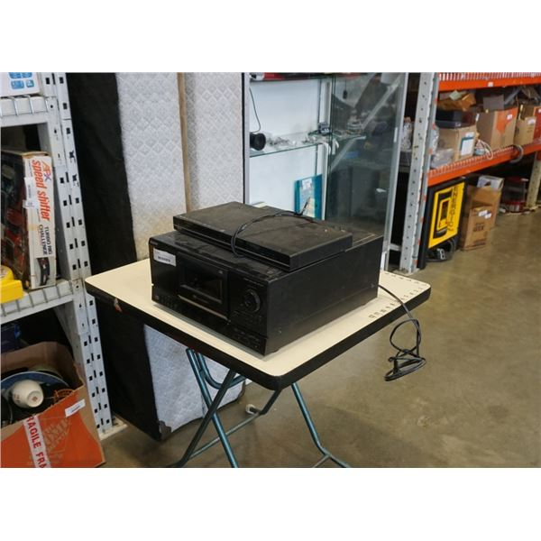 SONY 100 DISC CD CHANGER AND RCA DVD PLAYER