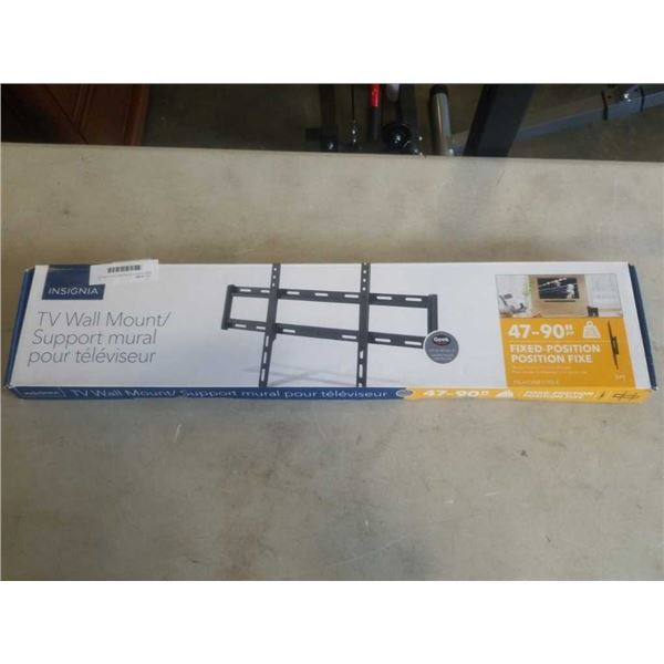 NEW OVERSTOCK INSIGNIA FIXED POSITION TV WALL MOUNT 47-90 INCHES 120LB CAPACITY