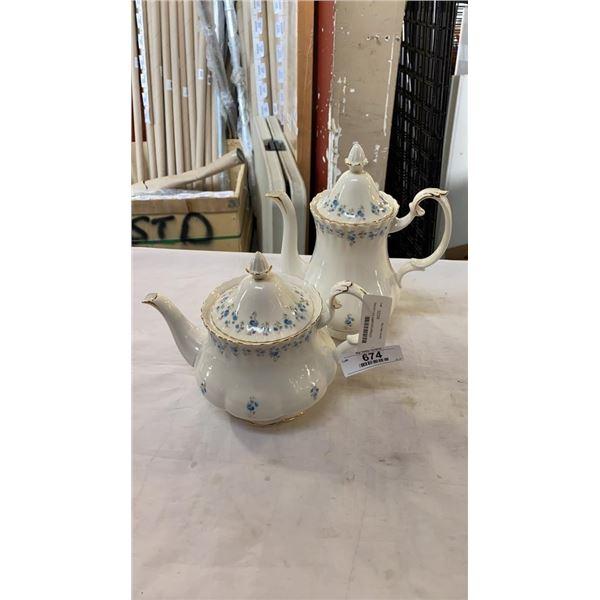 Memory Lane teapot and coffee pot