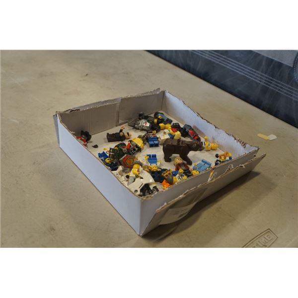 TRAY OF LEGO MINI FIGURES