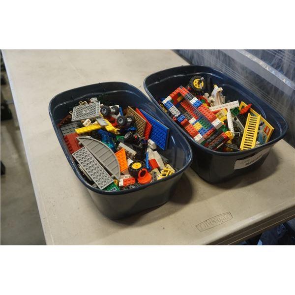 2 SMALL BINS OF LEGO