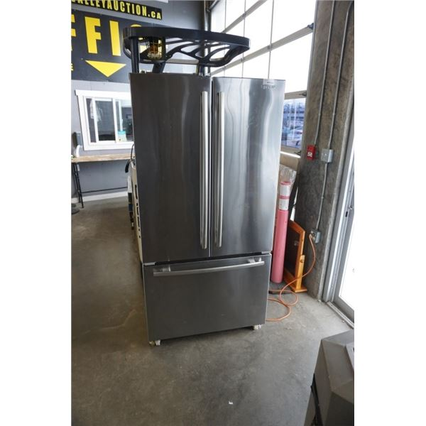 JENN AIR STAINLESS FRENCH DOOR FRIDGE WITH BOTTOM FREEZER - WORKING 36 INCHES