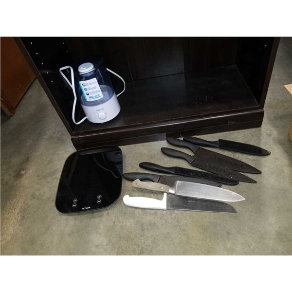 Taylor scale, Homedics humidifier and chef knives