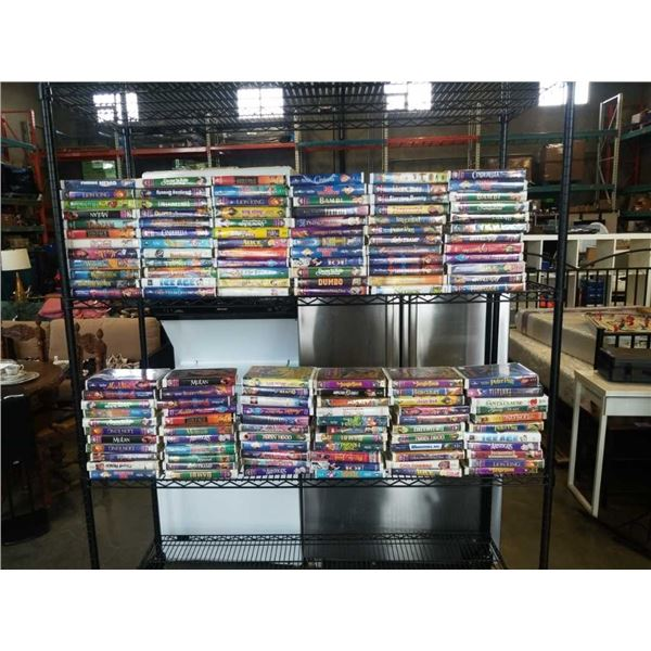 LARGE COLLECTION OF DISNEY VHS INCLUDING BLACK DIAMOND