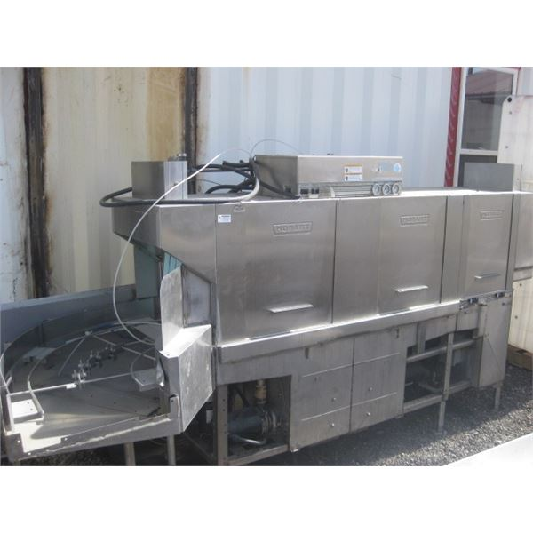 TRIPLE BANK HOBART 11FT DISHWASHING SYSTEM