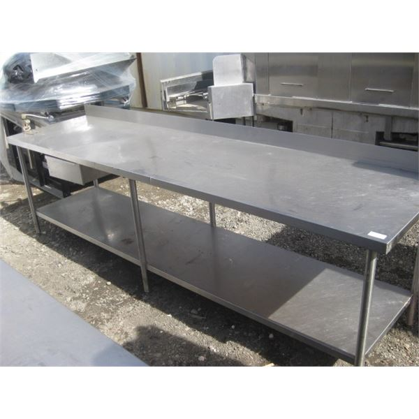 10FT STAINLESS TABLE WITH CAN OPENER