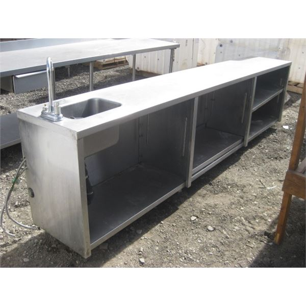 126 INCH STAINLESS TABLE 20 INCH DEEP