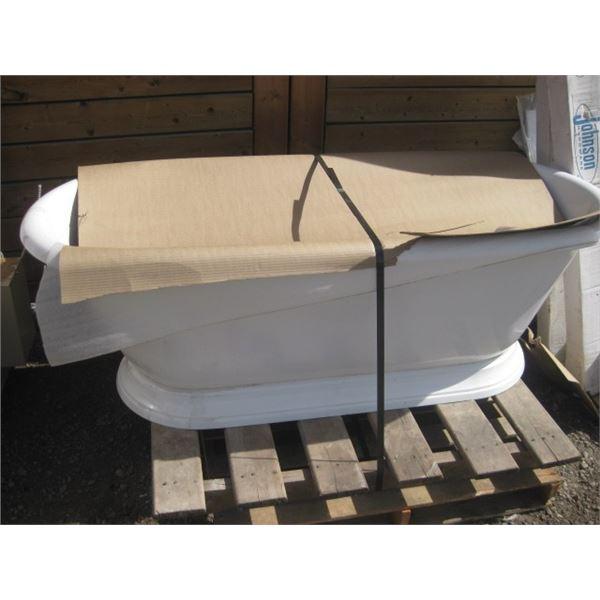 CHEVIOT REGAL CAST IRON BATH TUB PED BASE HEAVY DAMAGED FREIGHT