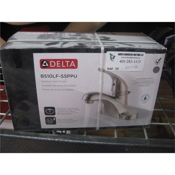 DELTA STAINLESS FINISH BATHROOM TAP B510LF-SSPPU