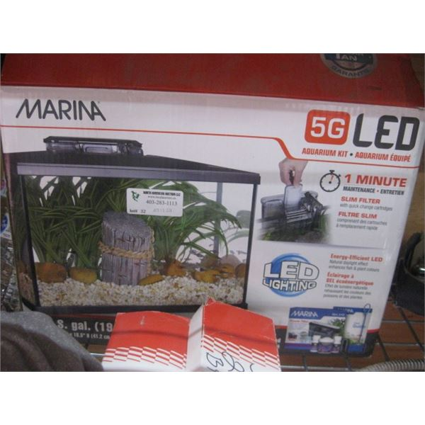 MARINA USED 5G AQUARIUM KIT