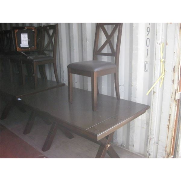 36 X 58 INCH KITCHEN TABLE W/ 1 CHAIRS WORN