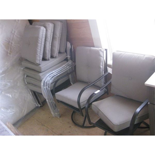 4 CHAIRS 2 SWIVEL CHAIRS PATIO CHAIR SET