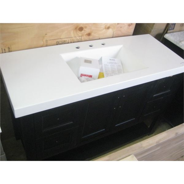 HOME DECOR 48 INCH VANITY COMBO DAMAGED FREIGHT