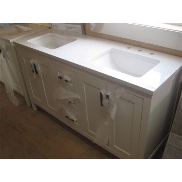 HOMEDECOR 1001320216 60 INCH VANITY CRACKED DAMAGED FREIGHT