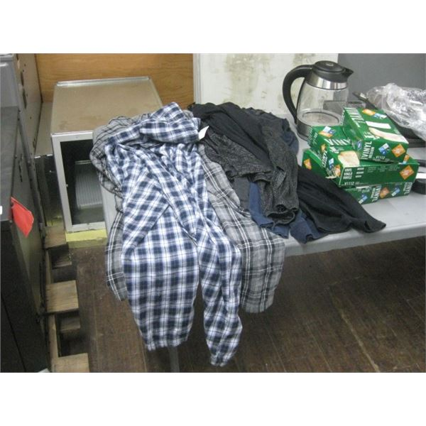 MEDIUM MENS PJ PANTS AND MEDIUM PIERRE CARDIN LONG SLEEVES WORN