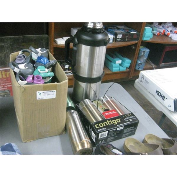CONTIGO AND OTHER 12PC CUPS AND THERMOS AS SEEN
