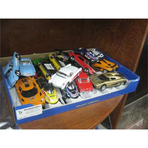 CASE OF METAL TOYS CARS