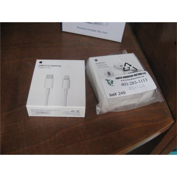 APPLE EARPODS AND USB-C TO LIGHT CORD