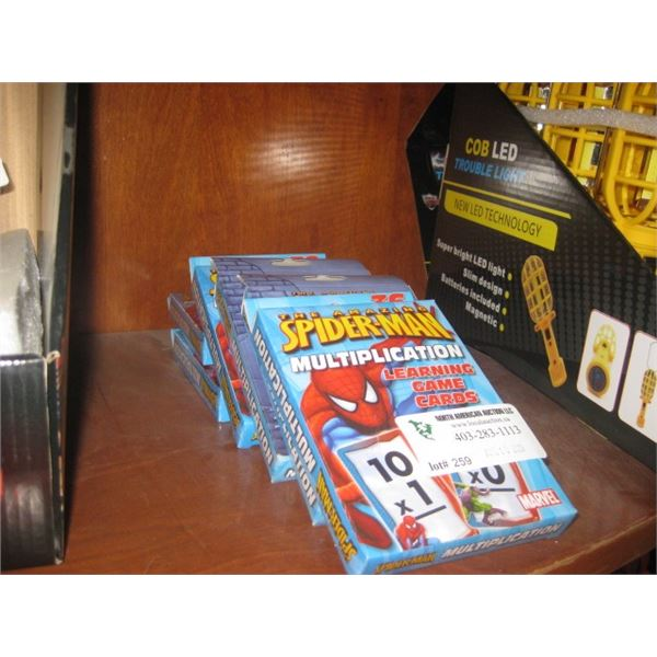 6 PACKS SPIDERMAN LEARNING GAME CARDS