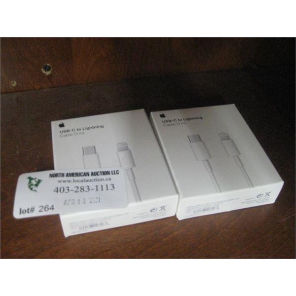 APPLE USB-C TO LIGHT CORDS X 2