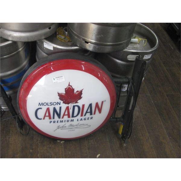 MOLSON CANADIAN LIGHT UP SIGN