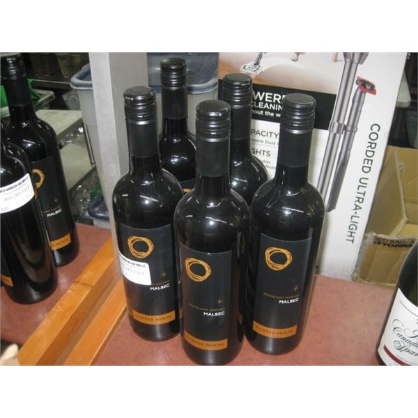 5 BOTTLES COPPER MOON MOONLIGHT HARVEST MALBEC