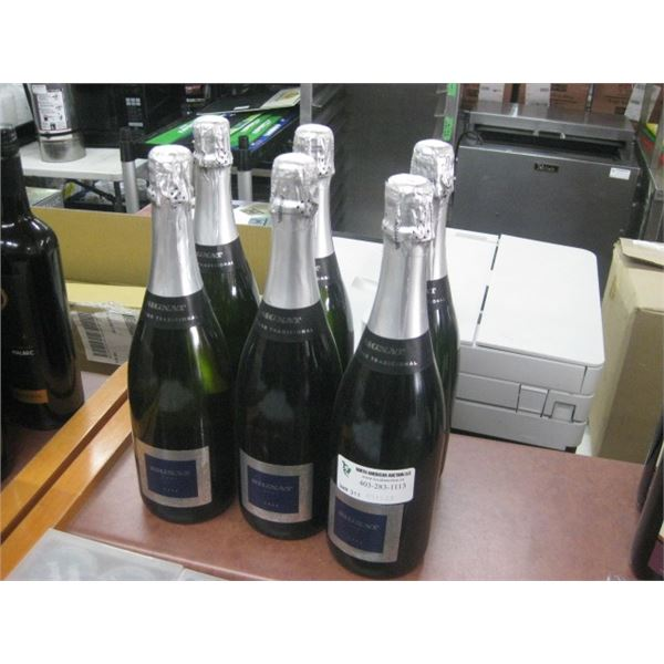 6 BOTTLES SIGNAT BRUT CAVA 750 ML