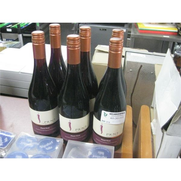 6 BOTTLE PKNT PINOT NOIR 750 ML