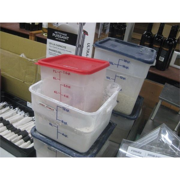 5PC CAMBRO INSERTS WITH FOOD INSIDE
