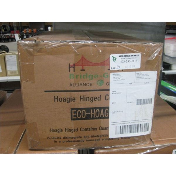 ECO HOAGIE HINGED CONTAINER 250PC