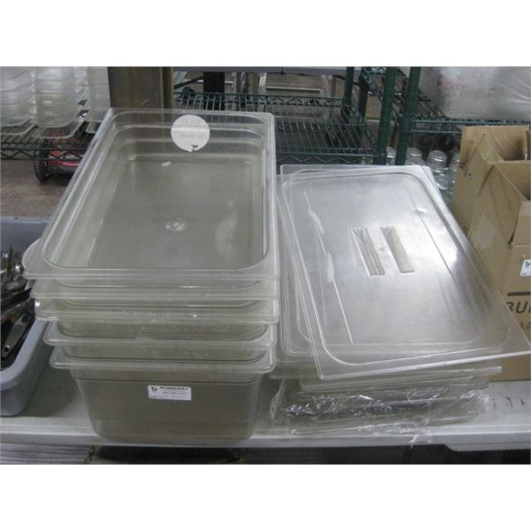 LARGE STACK OF PLASTIC INSERTS AND LIDS