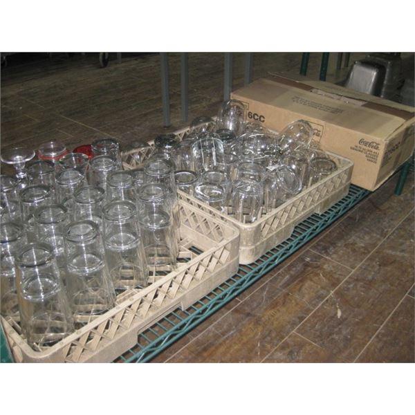 SHELF OF GLASSWARE