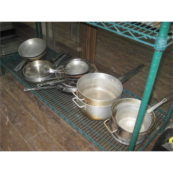 SHELF OF POTS AND PANS
