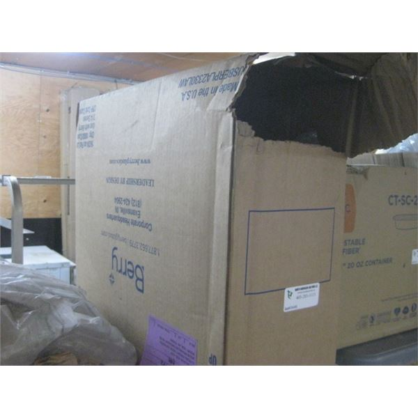 BERG 16/24 OZ FLAT LIDS 1000 CS OPEN