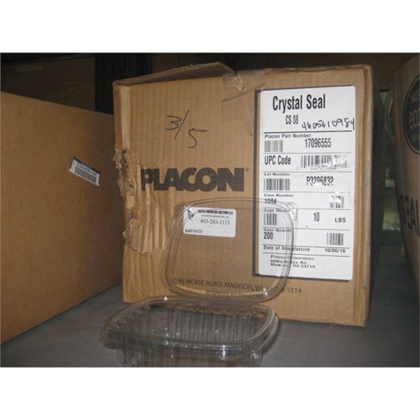 PLACON 200 CASE 12 OZ CLAMSHELL
