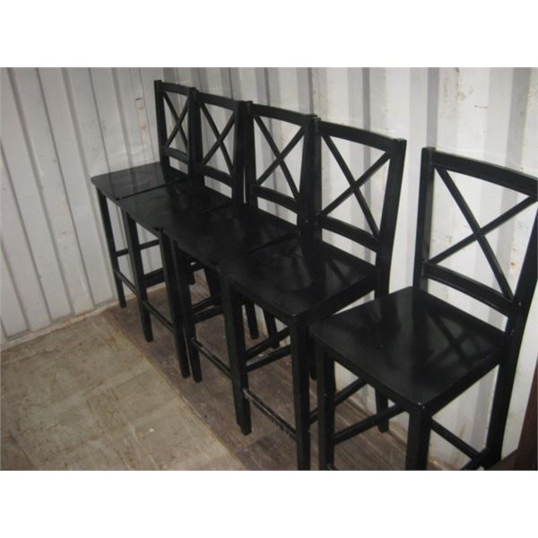 6PC 30 INCH SEAT WOODEN BAR STOOL