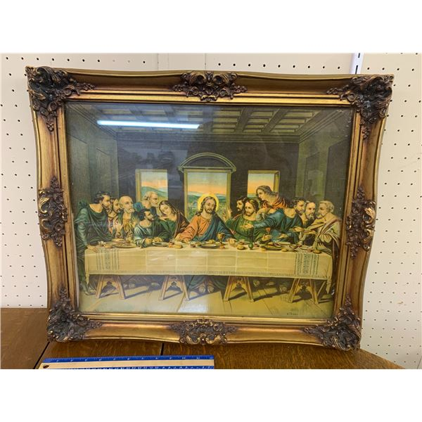 """LAST SUPPER FRAMED PICTURE 23"""" x 19.5"""""""