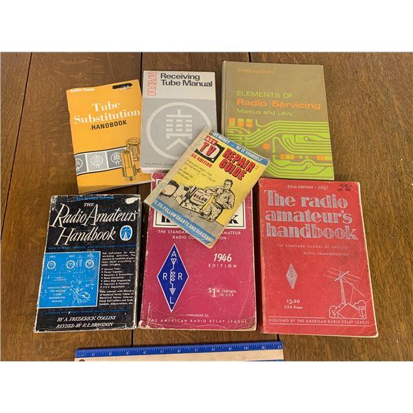 LOT OF RADIO REPAIR BOOKS ETC