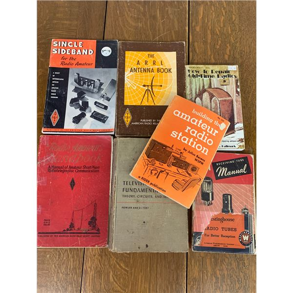 LOT OF RADIO REPAIR BOOKS ETC