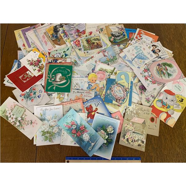 LARGE LOT OF USED VINTAGE OCCASION CARDS