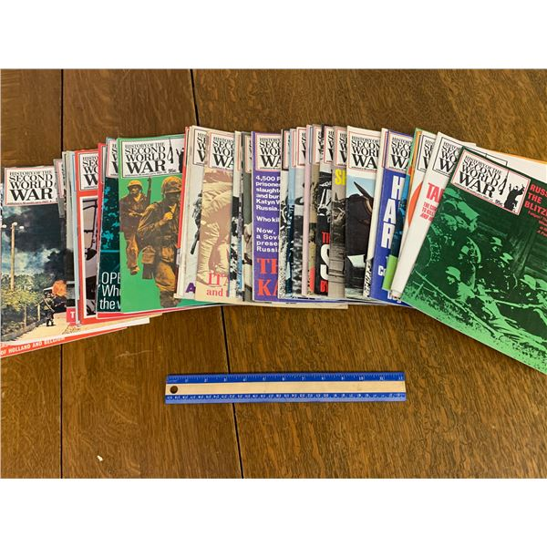 HISTORY OF THE SECOND WORLD WAR SERIES MAGAZINES