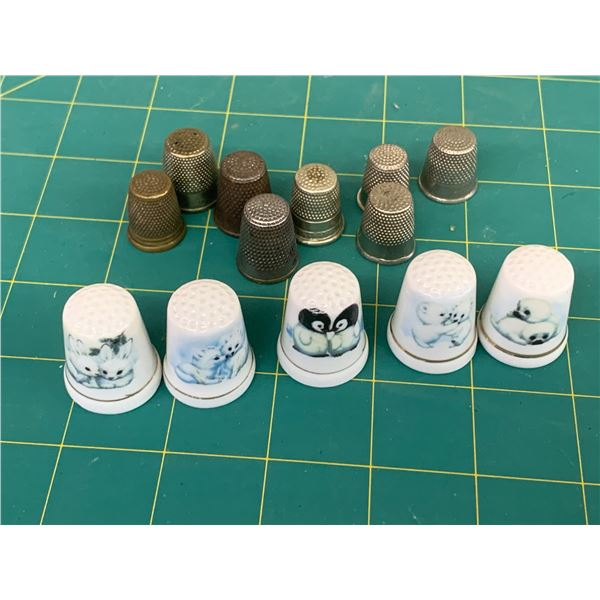 LOT OF THIMBLES