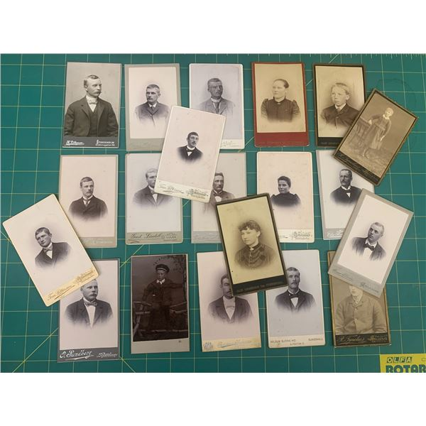 LOT OF CABINET CARD PHOTOS