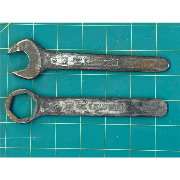 VINTAGE KAWASAKI 19 AND 24 WRENCHES