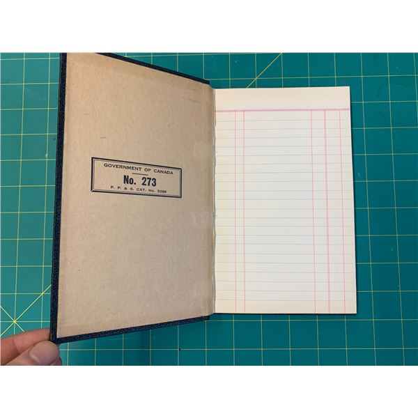 VINTAGE GOVERNMENT OF CANADA HARDCOVER LEDGER NOTEBOOK