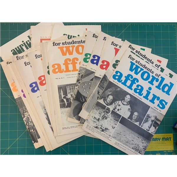 1960s 70s AURICLE AND STUDENTS OF WORLD AFFAIRS MAGAZINES