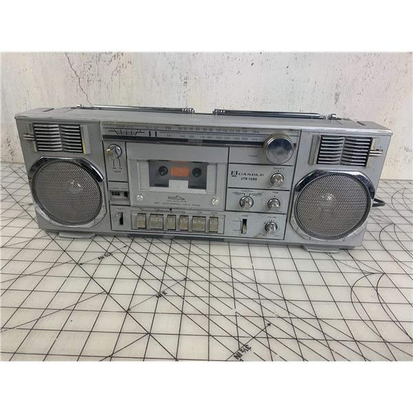 VINTAGE CANDLE TAPE PLAYER RADIO BOOM BOX POWERS ON