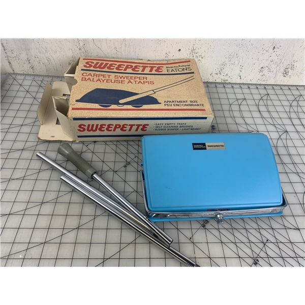 VINTAGE EATONS CARPET SWEEPER WITH BOX