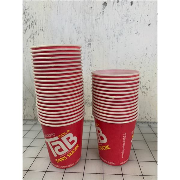 LOT OF VINTAGE TAB WAX PAPER CUPS