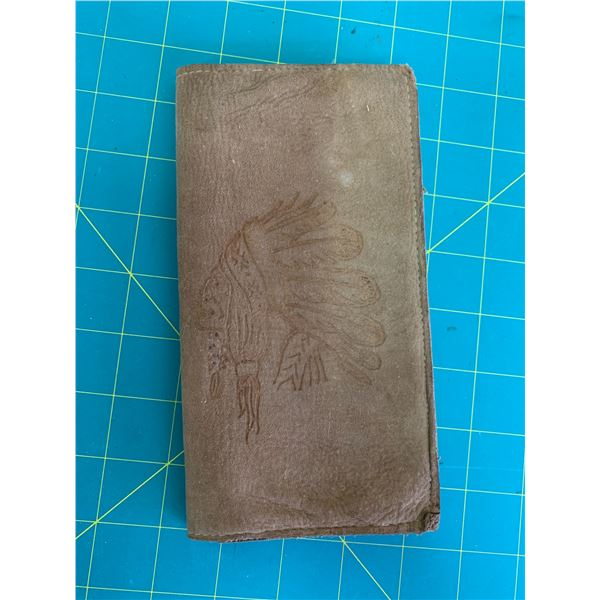 LEATHER WALLET CHIEF MOTIF